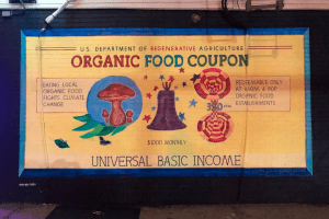 Bake Shop's Mural Presents Idea To Save Local Restaurants, Fight Climate Change