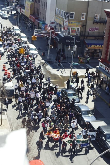 Hundreds Marched to Protest Unfair Housing Practices in Bushwick