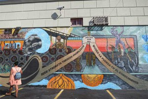 A Beautiful New Mural by Local Teens is Finished on Broadway