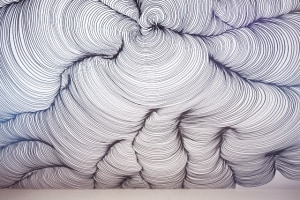 New Art Space The Hollows Presents a Giant Sharpie Drawn Swirling Ceiling Mural