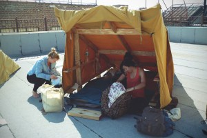 What It's Like to Camp on a Bushwick Roof for 12 Hours
