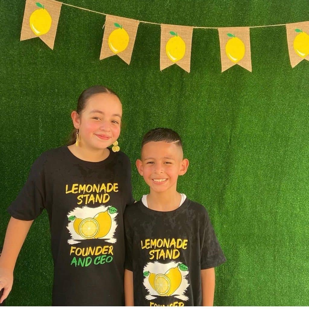 Chloe Love and William at the fifth annual lemonade and cake stand.