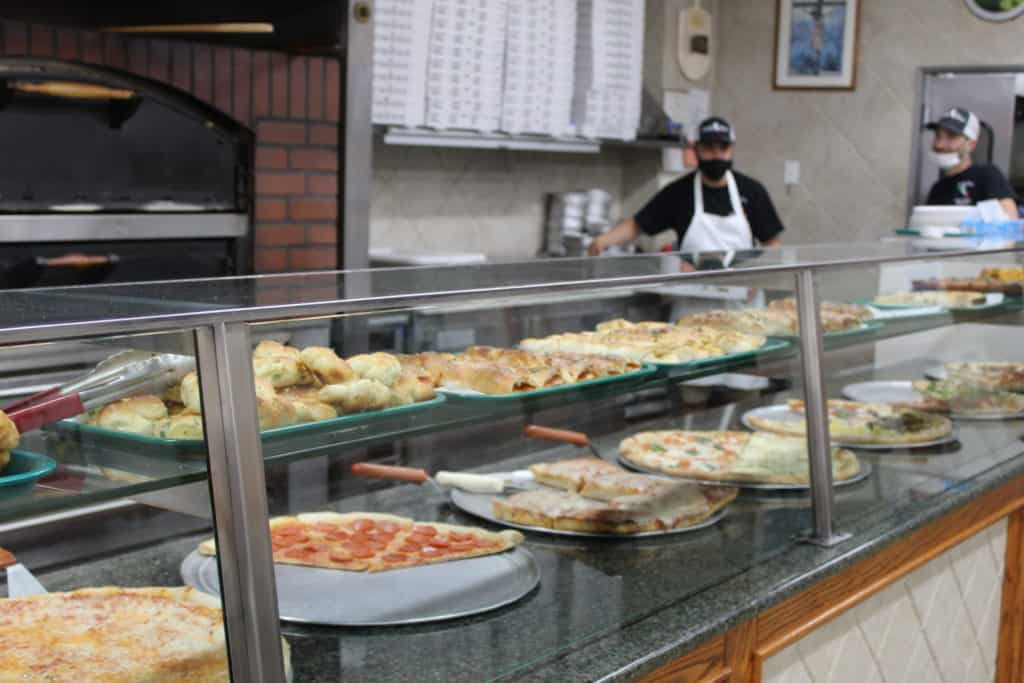 The pizza selection at Il Bel Paese Pizzeria and Trattoria.